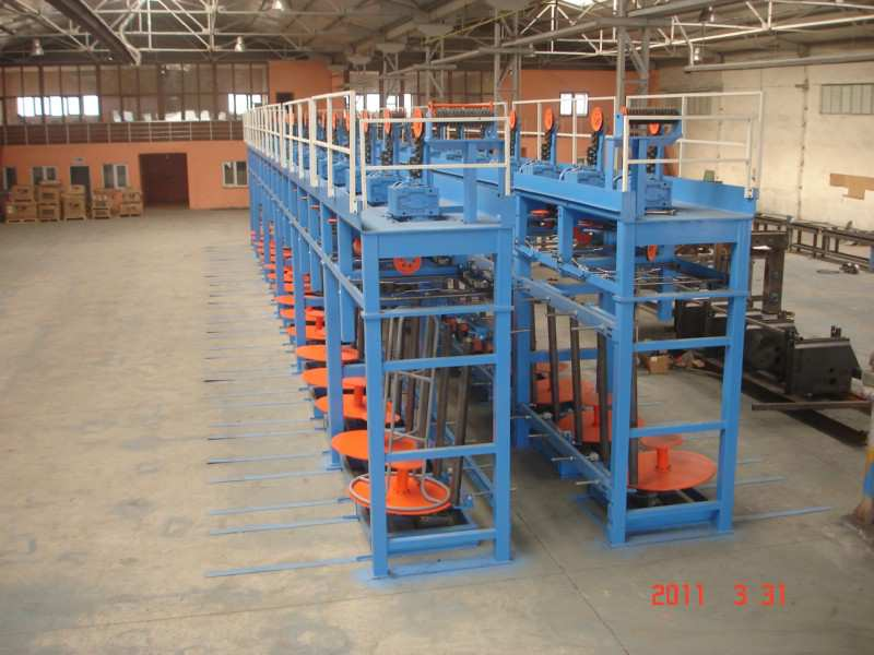 ANNEALED AND GALVANIZED LINE TAKE-UPS ROTATING CAPSTAN TAKE-UPS